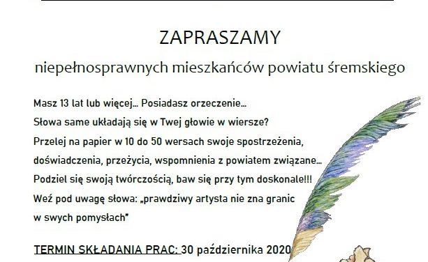 """KONKURS LITERACKI """"POWIAT WIERSZEM PISANY"""""""