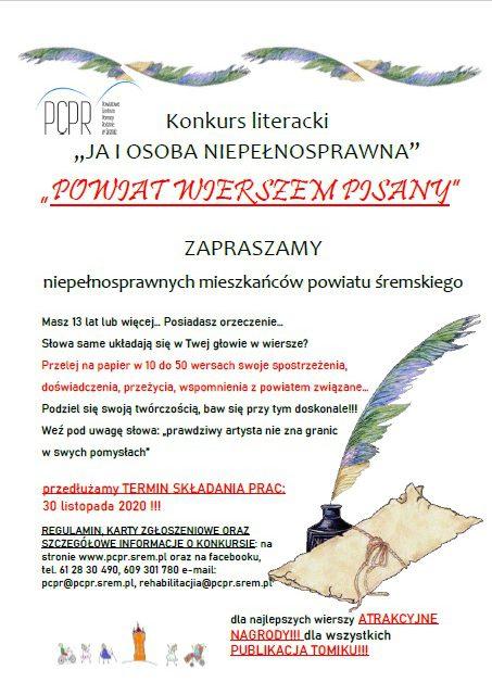 """Konkurs literacji """"Powiat wierszem pisany"""""""