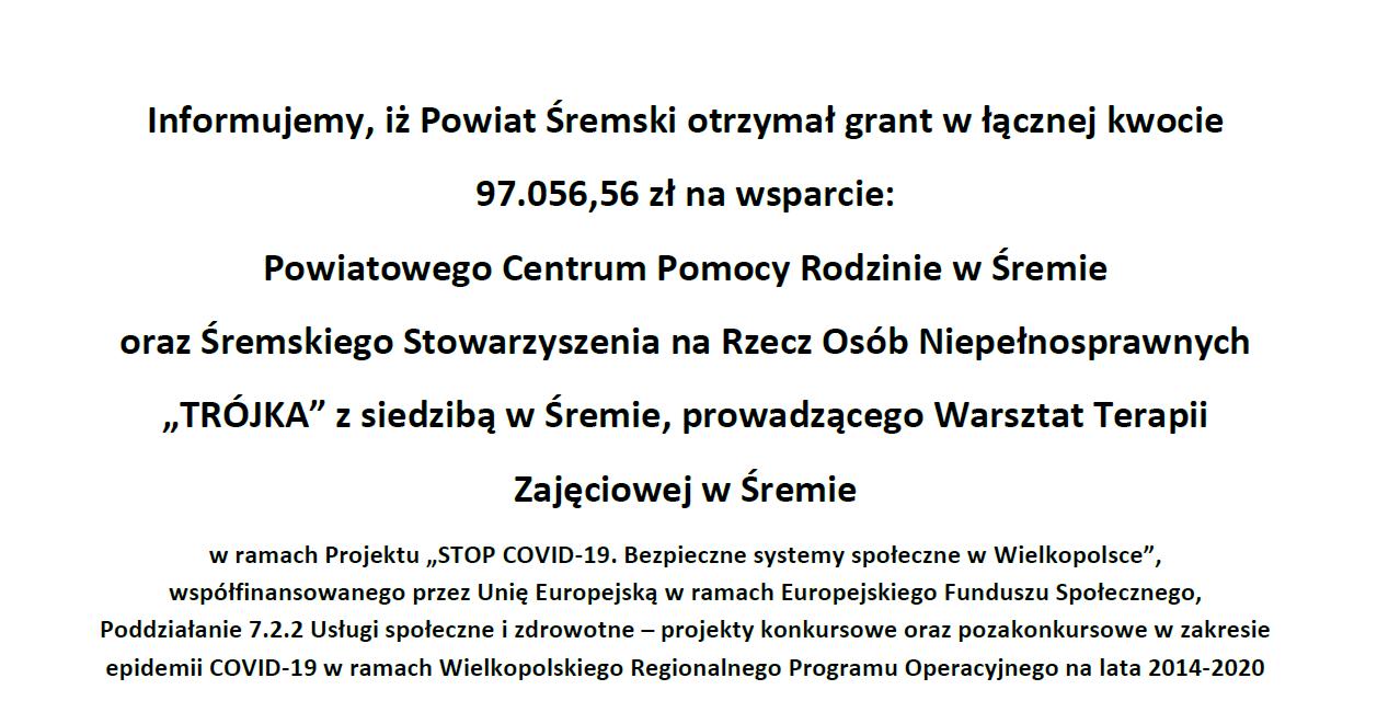 Stop covid-19. Bezpieczne systemy społeczne w Wielkopolsce