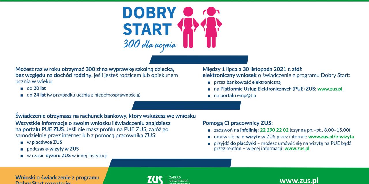 Dobry Start 300 zł dla ucznia